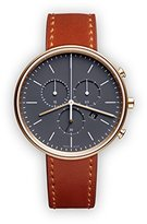 Uniform Wares M40 Quartz Watch with Grey Chronograph Dial with Brown Leather Strap