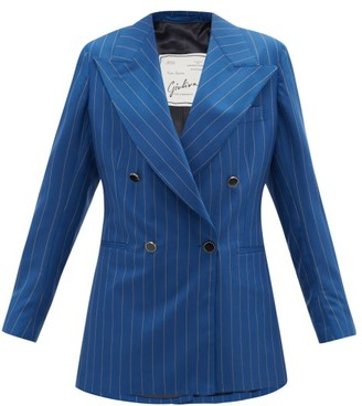 Giuliva Heritage Collection The Stella Pinstriped-wool Suit Jacket - Blue Stripe