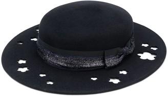 Maison Michel Kiki glitter-trimmed cutout hat