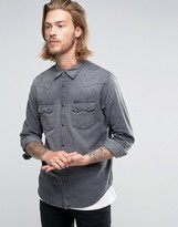 Lee Rider Western Denim Shirt Dark Focus
