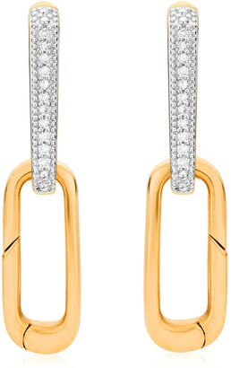 Monica Vinader Alta Capture Diamond Earrings