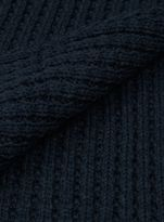 Topman Selected Structure Navy Waffle Textured Scarf
