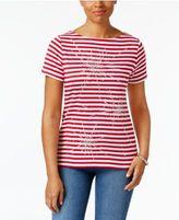 Karen Scott Studded Cotton T-Shirt, Created for Macy's