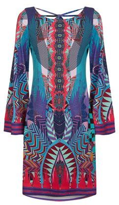 Hale Bob Crossover Abstract Dress