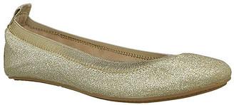 Yosi Samra Girls' Ballet Flats GOLD - Gold Glitter Miss Samara Flat - Girls