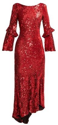 Maria Lucia Hohan Polina Asymmetric Sequinned Dress - Womens - Red