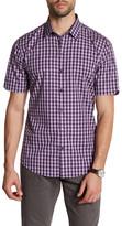 Zachary Prell Mclain Short Sleeve Plaid Woven Shirt