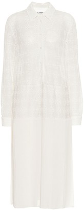 Jil Sander Eyelet and gauze shirt dress
