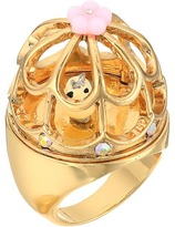 Betsey Johnson Rose Gold Multi Bird Cage Ring