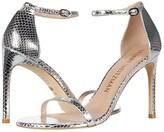 Stuart Weitzman Nudistsong (Silver Mini Printed Metallic Snake) High Heels