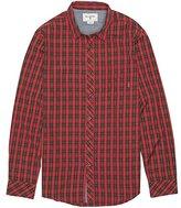 Billabong Men's Riviera Long Sleeve Woven Shirt, Red