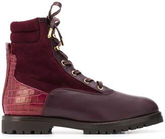Aquazzura Lace-Up Ankle Boots