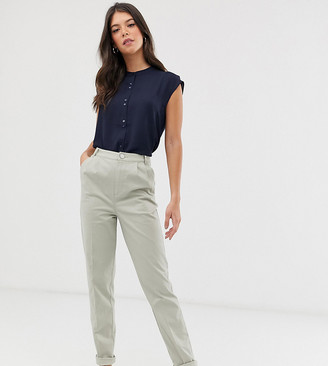 Asos Tall DESIGN Tall chino trousers-Green