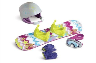 American Girl Snowboard & Helmet