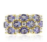 Effy Jewelry Effy 14K Yellow Gold Tanzanite and Diamond Ring, 3.98 TCW