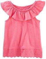 Osh Kosh Toddler Girl Ruffled Eyelet-Hem Tank Top