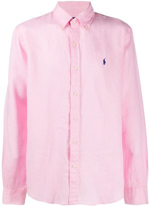Polo Ralph Lauren Linen Logo Embroidered Shirt