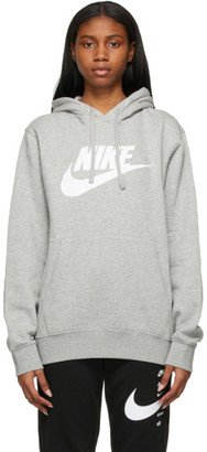 Nike Grey Graphic Sportswear Club Hoodie