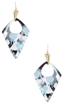 Alexis Bittar Lucite Abstract Poppy Pointed Pyramid Drop Earrings