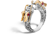 John Hardy Naga Double Head Ring with Diamonds