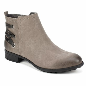 White Mountain Shoes Riley Women's Bootie Stone/Sueded/FAB 8H M