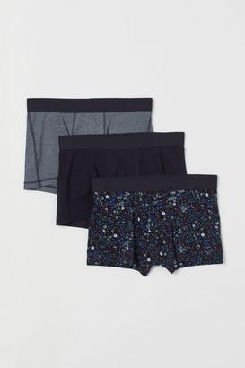 H&M 3-pack Short Boxer Shorts - Blue