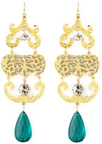 Devon Leigh Quartz & Jasper Chandelier Earrings