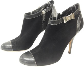 Gucci Black Suede Ankle boots