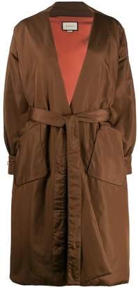 Gucci tie-waist padded coat