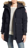 Canada Goose Women's Shelburne Slim Fit Genuine Coyote Fur Trim Down Parka