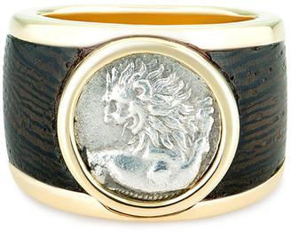 Dubini 18k Chersonesos Lion Signet Ring