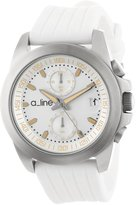 A Line a_line Women's 80010-02-WH Aroha Chronograph Dial White Silicone Watch