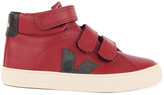 Veja Leather Velcro Esplar Mid High-Top Trainers Burgundy
