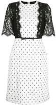 Giambattista Valli spotted lace embellished dress