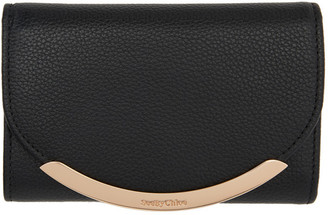 See by Chloe Black Lizzie Compact Trifold Wallet