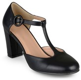 Journee Collection Women's Talie Round Toe T-Strap Pumps