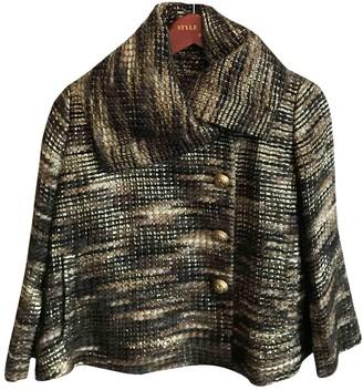 Matthew Williamson Gold Wool Coats