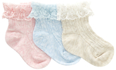 John Lewis Cable Knit Socks, Pack of 3, Multi
