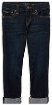 Ralph Lauren Boys' Dark-Wash Cuffed Skinny Jeans - Little Kid
