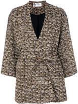 Lanvin bouclé tweed wrap coat
