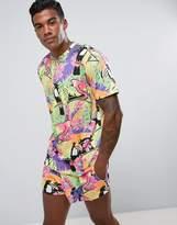Jaded London T-Shirt In Tropical Print