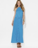 Lauren Ralph Lauren Chevron Halter Maxi Dress