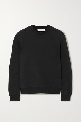 Ninety Percent + Net Sustain Stephanie Organic Cotton-terry Sweatshirt - Black