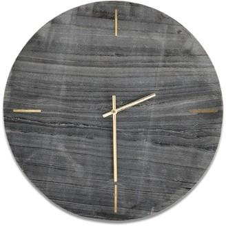 Nkuku Besa Marble Clock - Grey - marble | grey - Grey/Grey
