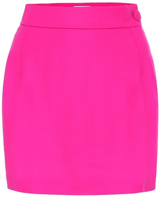 ATTICO Stretch-wool miniskirt