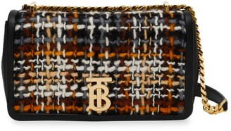 Burberry Small Lola TB Tweed & Leather Shoulder Bag