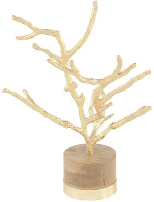 Uma Enterprises Gold Tree On Wood Base