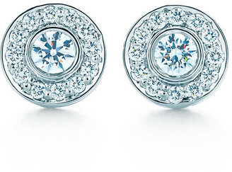 Tiffany & Co. Circlet earrings with diamonds in platinum, mini