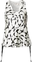 Helmut Lang stylised print tank top - women - Silk - XS