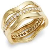 Kwiat Women's Wave Diamond & 18K Yellow Gold Fancy Ring